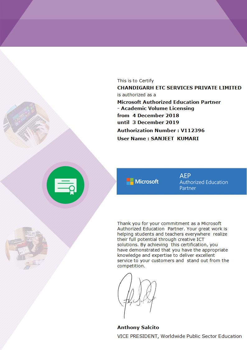 Citc Iso Certified Govt Nielit Microsoft Authorized Institute