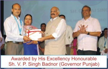 Awarded by Governor Punjab