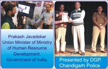 Presentation to MHRD Mininster & DGP Chandigarh Police