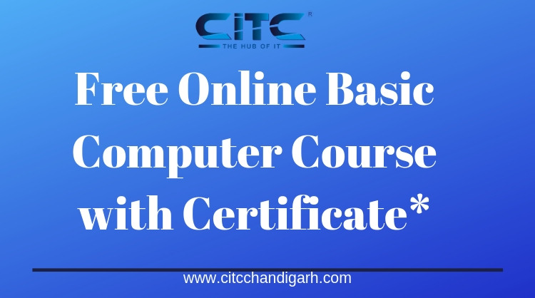 Free Online Basic Computer Course with Certificate